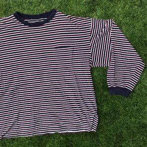 ❣️ vintage 90s striped long sleeve shirt